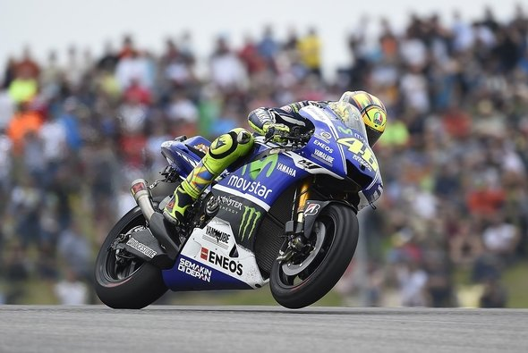 Valentino Rossi hatte in Austin massive Reifenprobleme