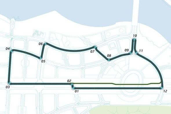 Layout des Formel-E-Kurses in Putrajaya - Foto: Formel E