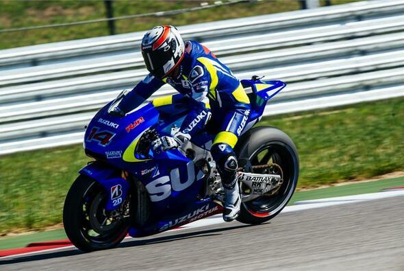 Randy de Puniet sammelte weitere Erfahrungen mit Suzukis MotoGP-Bike