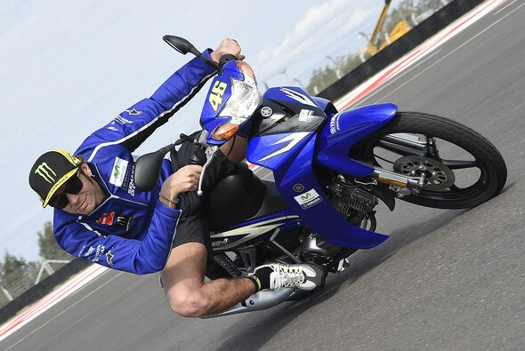 Valentino Rossi hatte bei der Streckenbesichtigung Spaß