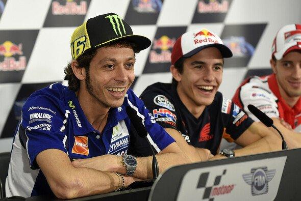 Valentino Rossi und Marc Marquez verstehen sich prächtig
