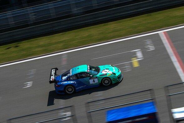 Der Falken-Porsche wurde im dritten VLN-Rennen Siebter