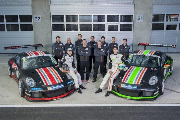 Die Zusammenarbeit im Team ZaWotec Racing funktionierte bei den Testfahrten schon sehr gut
