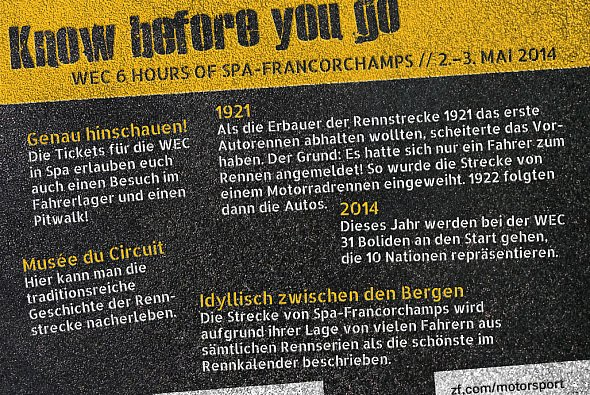 Top-Facts zum WEC-Rennen in Spa-Francorchamps - Foto: ZF