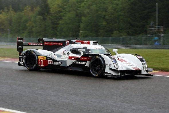 Audi lag im belgischen Regen an der Spitze