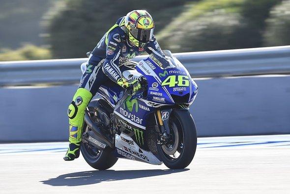 Valentino Rossi startet beim Spanien Grand Prix von Platz vier