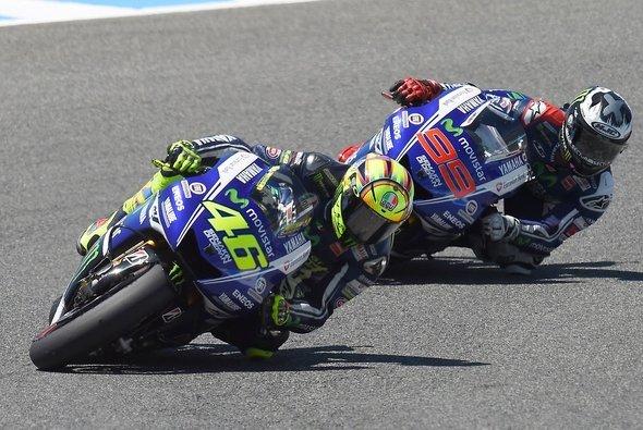 Valentino Rossi schlug Jorge Lorenzo in Jerez deutlich