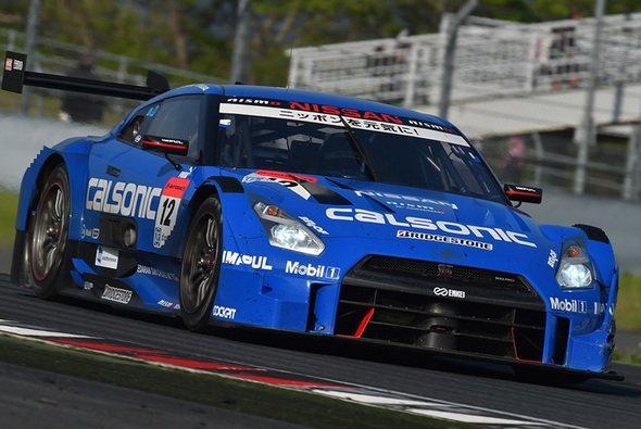 Der siegreiche Nissan GT-R auf dem Fuji International Speedway