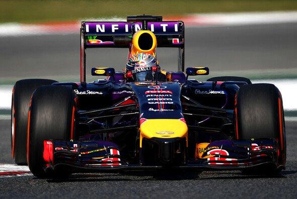 Ein seltenes Bild: Sebastian Vettel auf der Strecke