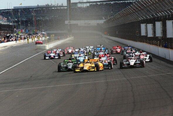 Die IndyCars fuhren zum ersten Mal im Infield des Indianapolis Motor Speedway