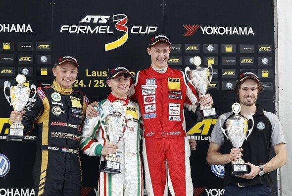 Gleich drei Rookies standen nach dem ersten Rennen auf dem Podium - Foto: ATS Formel 3 Cup