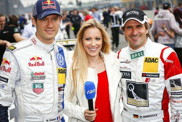 Andrea Kaiser mit Sebastien Ogier und Markus Winkelhock