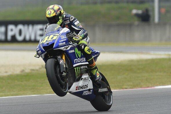 Valentino Rossi war nur mit seinem Vormittag zufrieden