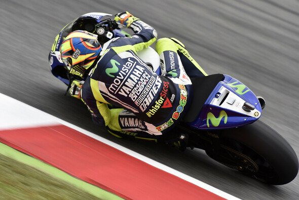 Valentino Rossi hatte mit den heißen Temperaturen Barcelonas zu kämpfen
