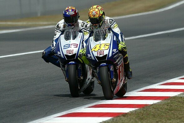 Valentino Rossi lieferten sich 2009 ein legendäres Duell