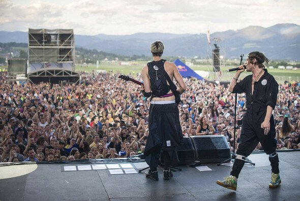 Mando Diao in Action am Red Bull Ring - Foto: Philip Platzer