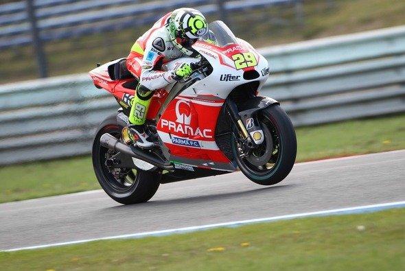 Andrea Iannone führte am Donnerstag die Ducati-Armada an