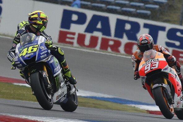 Valentino Rossi schaute Marquez genau auf die Reifen