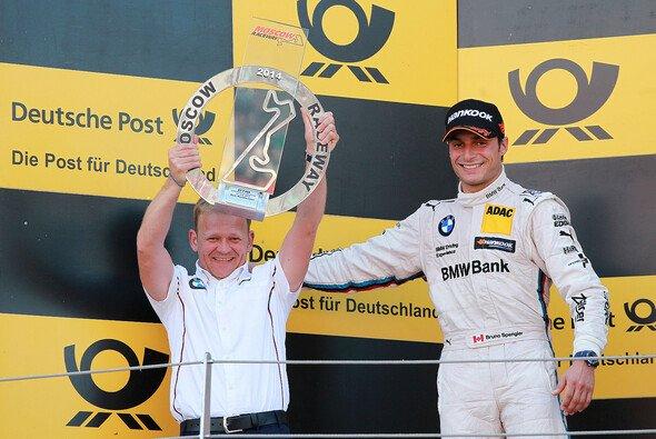 Bruno Spengler freut sich über Platz zwei