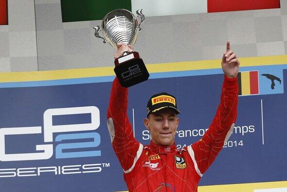 Sein erster Sieg in der GP2-Serie: Raffaele Marciello auf dem obersten Podest in Spa.