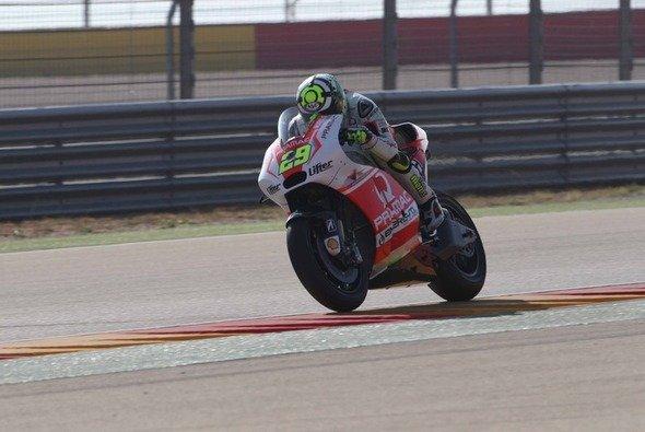 Andrea Iannone war auf der neuen Ducati GP14.2 schnell unterwegs - Foto: Pramac