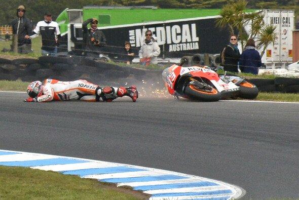 2014 auf Phillip Island verspielte Marquez erstmals eine überlegene Führung in einem MotoGP-Rennen - Foto: MotoGP.com