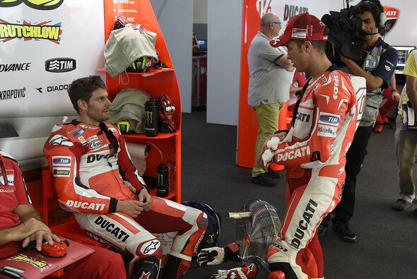 Bei Cal Crutchlow und Andrea Iannone regierte nach dem Rennen der Frust - Foto: Ducati