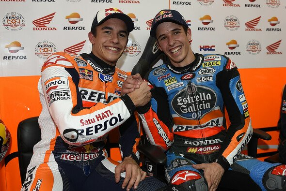 Marc und Alex Marquez fuhren am Montag für Honda - Foto: Repsol