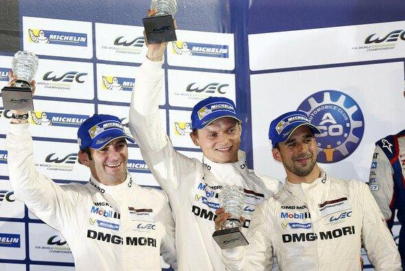 Romain Dumas, Neel Jani und Marc Lieb triumphierten in Sao Paulo - Foto: Porsche
