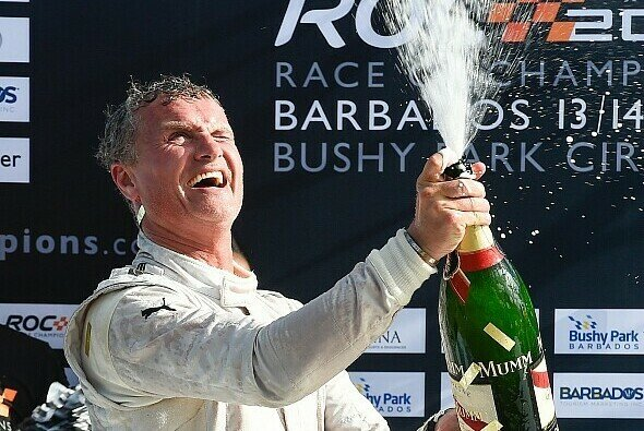 2014 auf Barbados feierte David Coulthard den Sieg im Race of Champions - Foto: Race of Champions