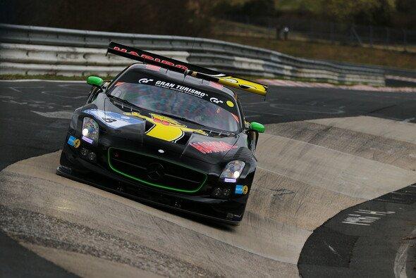 Der Haribo-Mercedes drehte bei trockenen Bedingungen die schnellste Runde - Foto: Patrick Funk