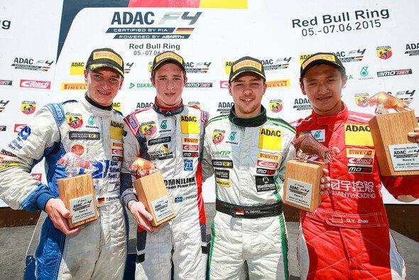ADAC Formel 4, Red Bull Ring, Joel Eriksson, Tim Zimmermann, Marvin Dienst, Guan Yu Zhou, Podium - Foto: ADAC Formel 4