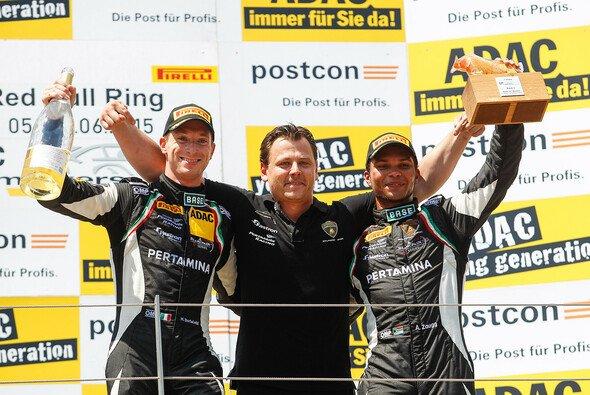 Bortolotti jubelt über ersten Sieg im ADAC GT Masters - Foto: ADAC GT Masters