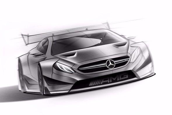 So sieht das neue Mercedes DTM-Auto für 2016 aus - Foto: Mercedes-AMG