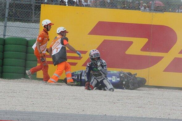 Jorge Lorenzos Rennen in Misano endete im Kies - Foto: Tobias Linke