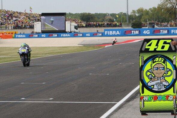Valentino Rossi spielte am Sonntag seine ganze Routine aus - Foto: Tobias Linke