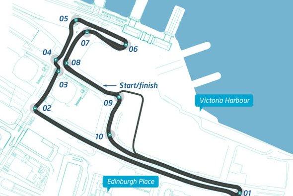 So sieht die Strecke in Hongkong aus - Foto: Formel E
