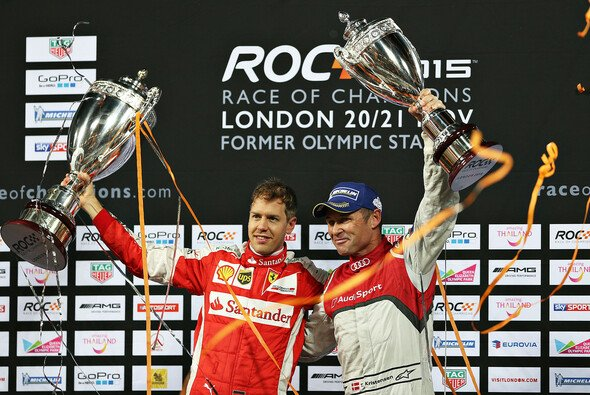 Sebastian Vettel hat das Race of Champions vor Tom Kristensen gewonnen - Foto: ROC