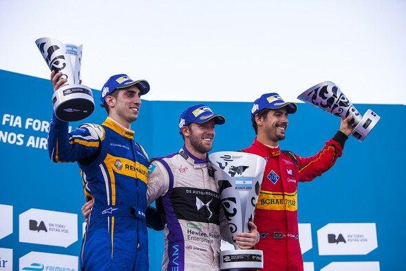 Die Sieger von Buenos Aires führen auch in der Fahrerwertung: Buemi, Bird, di Grassi - Foto: Formel E