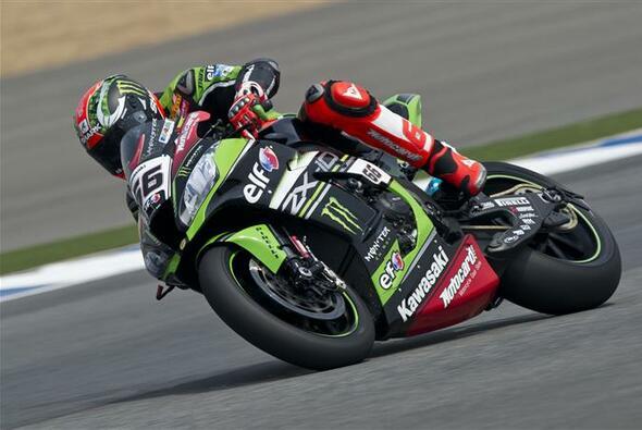 Fabelzeit im FP2 von Aragon: Kawasaki-Star Tom Sykes - Foto: Kawasaki