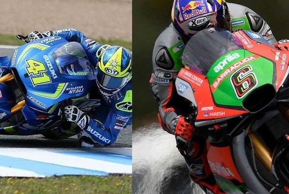 Suzuki und Aprilia waren in Jerez zum ersten Mal mit Flügeln unterwegs - Foto: Suzuki/Aprilia