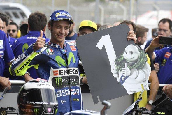 Auf Michelin ist Rossi im Qualifying plötzlich wieder stark - Foto: Yamaha