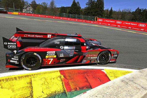 Der siegreiche Audi R18 auf dem Circuit de Spa-Francorchamps - Foto: Audi