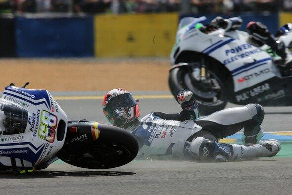 Yonny Hernandez crashte in Le Mans - Foto: Milagro