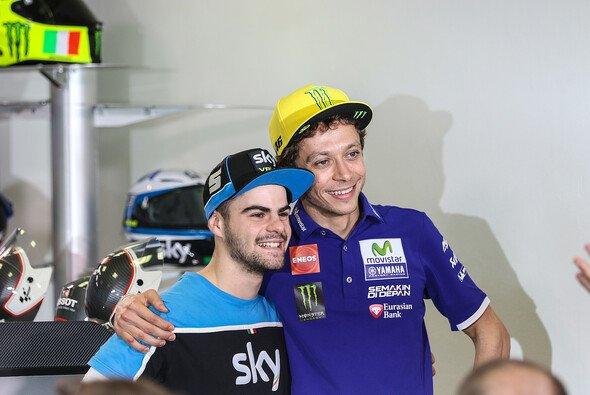 Ein Bild aus besseren Tagen: Rossi mit seinem Kronprinz Fenati - Foto: Tobias Linke