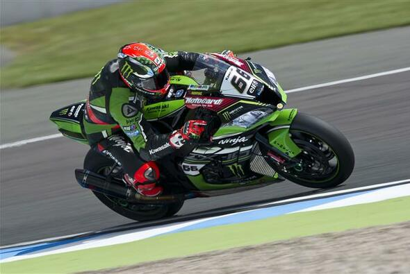 Der Freitag ging in Donington an die beiden Kawasakis von Sykes und Rea - Foto: Kawasaki