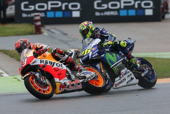 Marquez und Rossi waren zwei der Hauptprotagonisten des Sachsenring-Dramas - Foto: Repsol