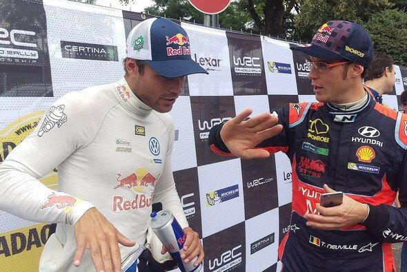 Andreas Mikkelsen und Thierry Neuville sind beste Freunde und Konkurrenten - Foto: Motorsport-Magazin.com