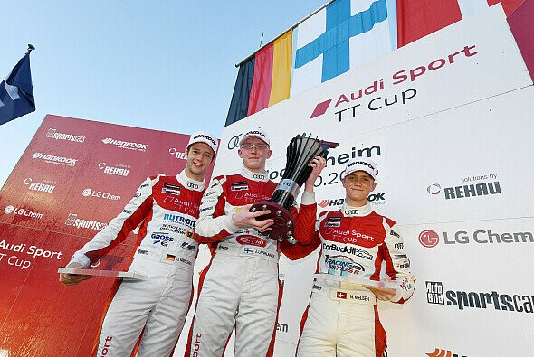 Die Top-3 in Hockenheim - Foto: Audi