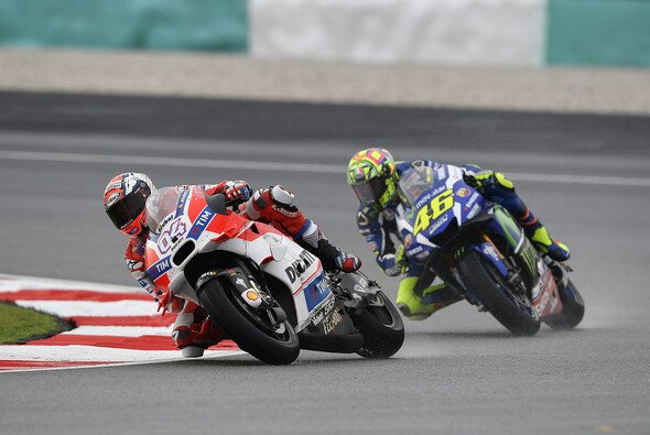 Nicht einmal Valentino Rossi konnte Dovizioso am Sonntag halten - Foto: Ducati